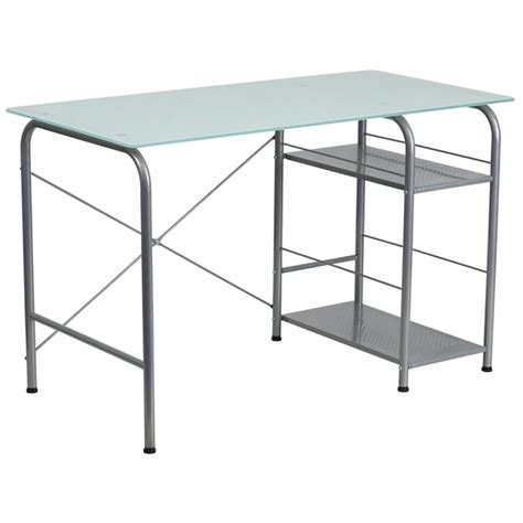 glass desk with storage glass computer desk with open storage