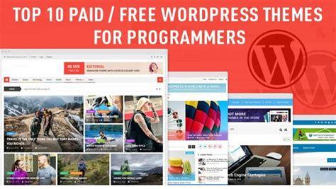 wordpress themes free or paid top 10 paid free programmers wordpress themes narga