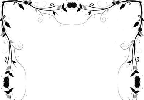 Wedding Border Photoshop Brushes by Free Floral Border Psd
