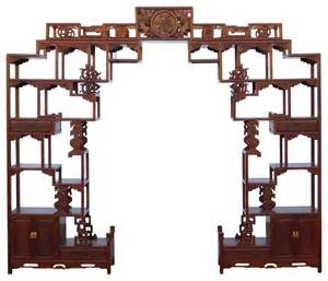 Brown Table Lamps Chinese Rosewood Curio Large Display Cabinet Room Divider