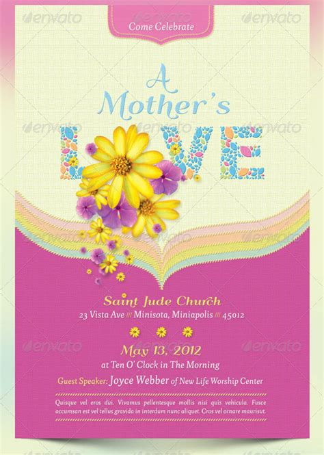15 beautiful mother s day flyer templates designs