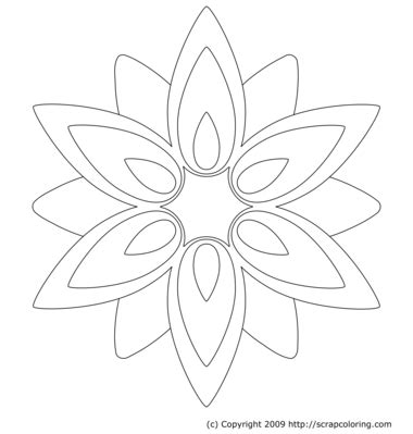 Geometric Coloring Pages Coloring Page Geometric Flower Coloring Pages