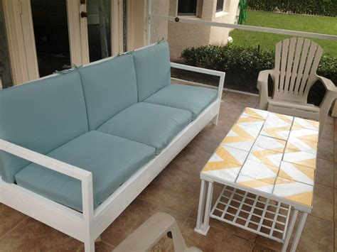 Porch Sofa by White Simple White Patio Sofa Diy Projects