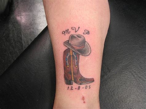 cowboy hat tattoo 41 best cowboy boot tattoos