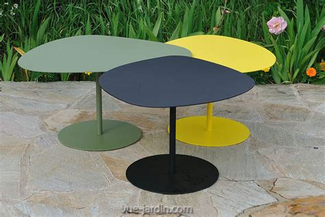 table basse gigogne de jardin table galet 3 de matire