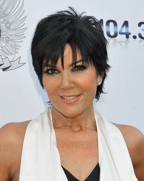 kim kardashian mom hairstyles kris jenner in aces angels celebrity poker party zimbio
