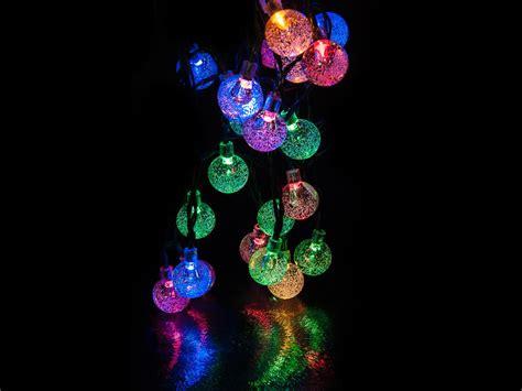 Livivo 35 Led Globe Ball Solar String Lights Crystal Globe Solar String Lights