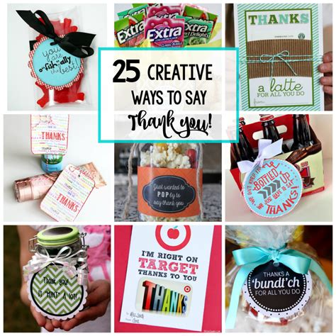 Creative You 25 creative ways to say thank you projects