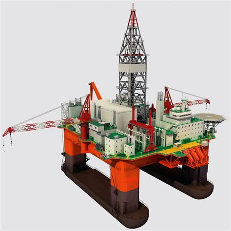 drilling rig image land rig site 1 3d animation oil 3d model oil rig platform 1