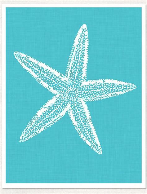 printable starfish images turquoise starfish art print turquoise teal by