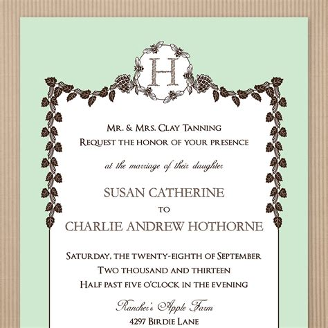 fall wedding invitation template card invitation templates