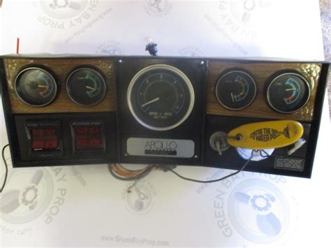 boat dashboard apollo marine boat dashboard gauge cluster and switches 16