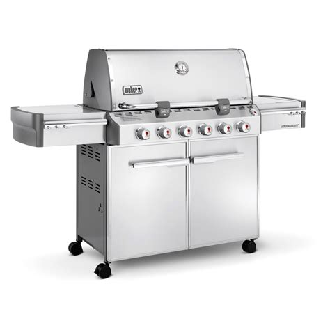 Stainless Gas Grill by Weber Summit S 620 Stainless Steel Gas Grill Propane
