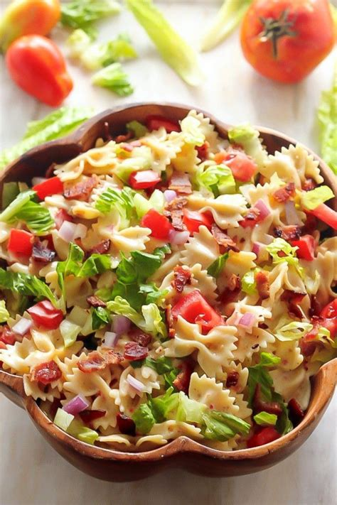 pasta salad recipe easy blt easy pasta salad pictures photos and images for