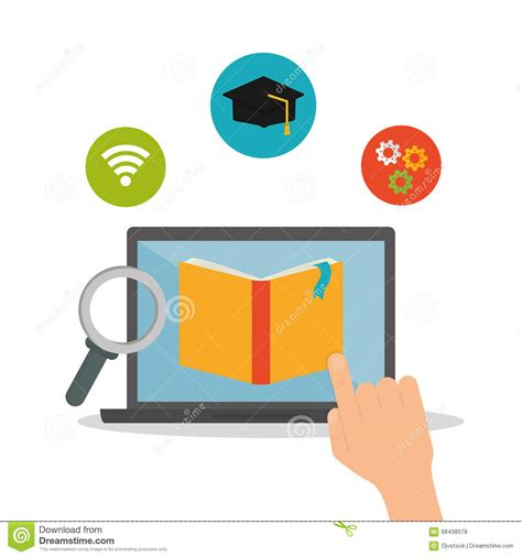 e learning icon design stock vector illustration of