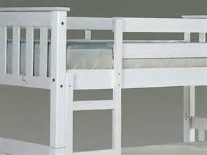 Small Single Bed Frame White Wood Verona Barcelona 2ft 6 White Wooden Small Single Bunk Bed