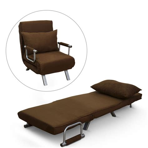 ottoman converts to chair homcom folding convertible chair sofa bed lounge seat