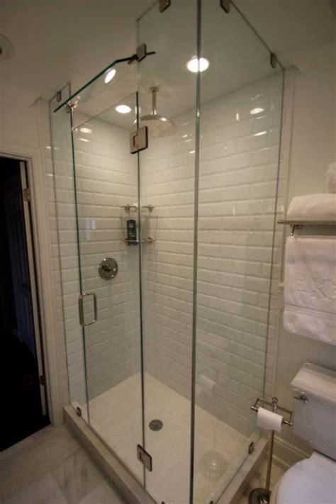 beveled subway tile shower beveled subway tile contemporary bathroom sherwin