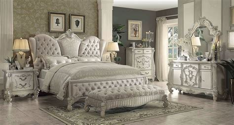 versailles bedroom set acme 4 piece versailles bedroom set in ivory velvet usa