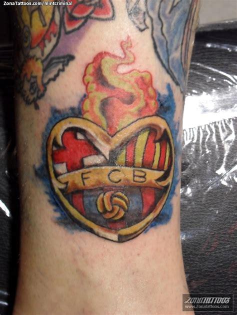tattoo 3d barcelona tatuaje de escudos fcb corazones