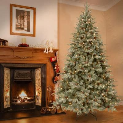 feel real alaskan spruce tree null 12 ft feel real alaskan spruce artificial tree with pinecones and 1200 clear