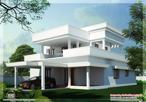 2650 sq beautiful flat roof home design indian