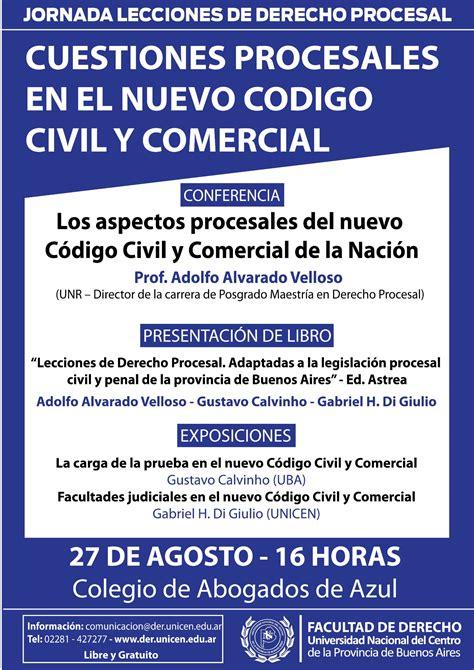 notas nuevo cdigo civil y comercial inmobiliarias en colegio de abogados del departamento judicial de azul