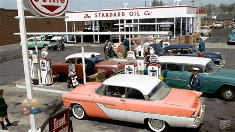 1950s Gas Station Giveaways - a selection of outstanding images from imbued with hues the old motor