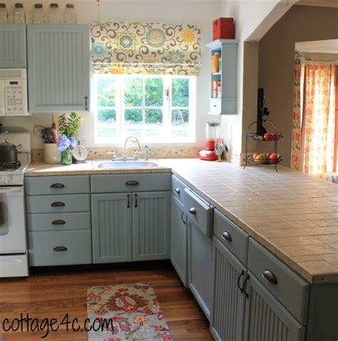 Painting Wood Cabinets by Painted Kitchen Cabinets Cottage4c