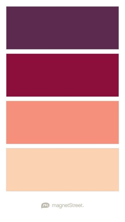 peach color schemes color palette options eggplant burgundy coral and peach