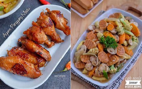 resep buka puasa  ayam panggang muda  sosis cah