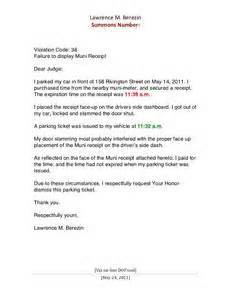 sle letter to judge for traffic ticket letter of