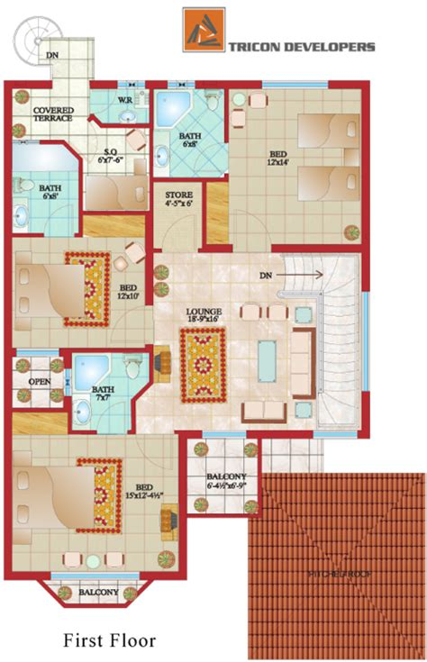 house designs floor plans pakistan villa grande tricon village
