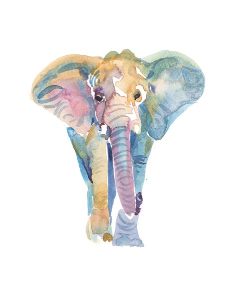 elephant painting watercolor watercolor elephant by coconuttowers