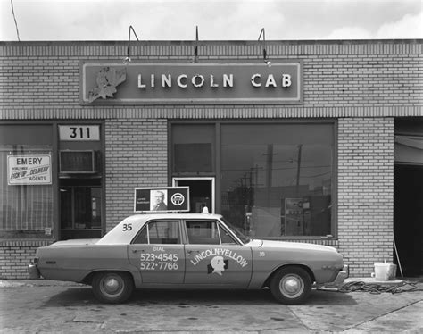 lincoln yellow cab springfield il by george tice