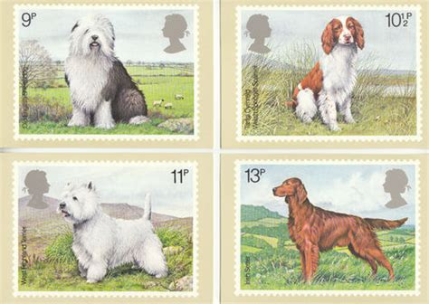 Where To Use Post Office Gift Card - collectable cards u k post office set of 4 british dogs cards 1979