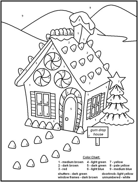 free holiday color by number coloring pages free printable color by number coloring pages best