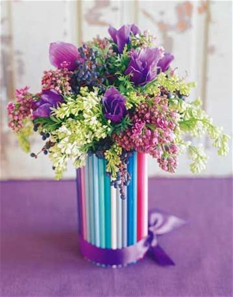 Colored Pencil Vase by Vase Made Of Colored Pencils Craft Time Adults