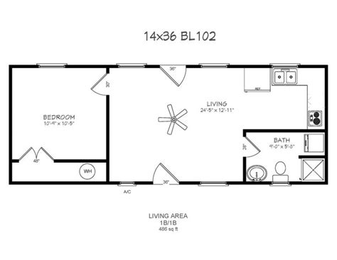 14 X 40 Floor Plans With Loft Bear Lake Series Model 102 Floor Plans For A 12 X 32 House