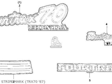honda trx70 wiring diagram honda get free image about