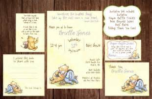 Classic Winnie The Pooh Baby Shower Invites by Printable Winnie The Pooh Baby Shower Story Book Baby Shower