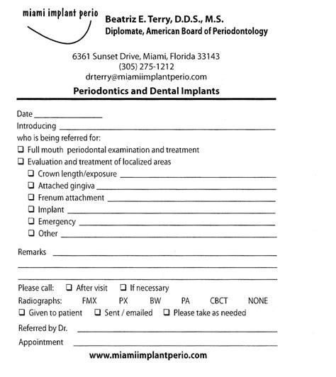 dental referral form template pictures to pin on pinterest