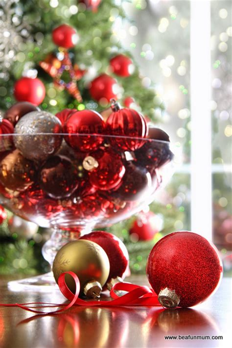 bauble table decoration table decorations baubles in a vase or bowl