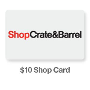 Crate And Barrel Register Gift Card - free 10 crate and barrel shop card for kitchenaid gift registry vonbeau com