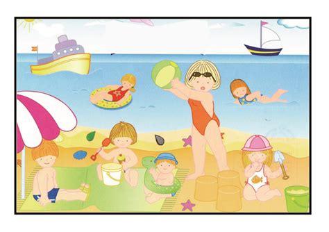 imagenes animadas verano fichas de verano para colorear