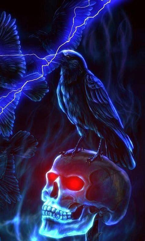 neon raven wallpaper  carinesmith    zedge