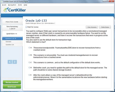 oracle weblogic server 12c administration i 1z0 133 a comprehensive certification guide books 1z0 133 questions oracle for oracle