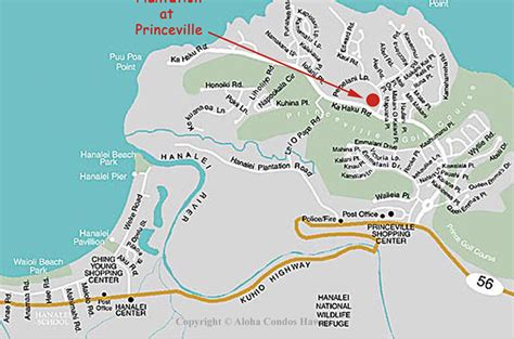 kauai resort map plantation at princeville condos 5 condo rentals aloha