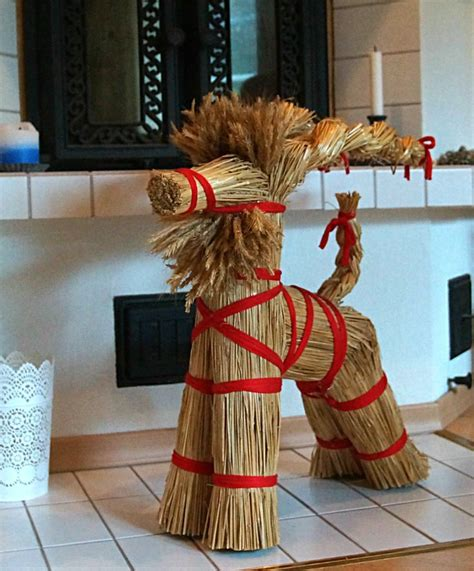 christmas decoration hay goat finland christmas in
