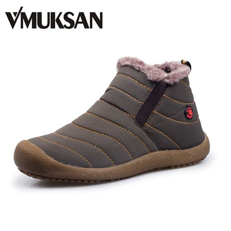 Vmuksan Winter Snow Shoes Lightweight Ankle Boots Warm